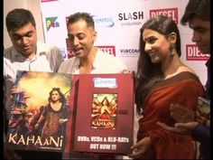 Vidya balan celebrating the success of the movie KAHAANI.