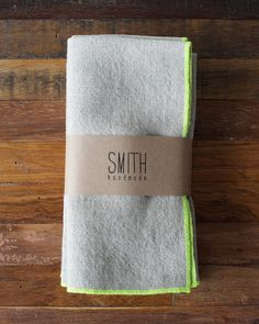 Set of 4 Linen napkins // by SMITHhandmade