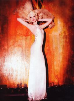 Model: Kelly Mittendorf | Photographer: Ellen von Unwerth - 'Thinking of a Glamorous Time' for Vogue Italia, April 2012