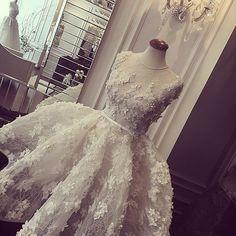#floral#details#lace#hautecouture#piece#aliyounes#bridal#dress#wedding#fashion#Beirut#paris#vogue