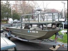 Bowfishing Boat, with raised platform… – Now YOU Can Build Your Dream Boat With Over 500 Boat Plans! Duck Boat, Jon Boat, Boat Dock, Wooden Boat Plans, Wooden Boats, Centre Console Boat, Mud Boats, Duck Blind Plans, Flat Bottom Boats