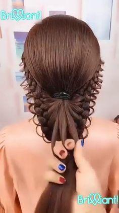 peinados paso a paso HAIR Easy Hairstyles For Long Hair, Up Hairstyles, Braided Hairstyles, Amazing Hairstyles, Little Girl Wedding Hairstyles, School Hairstyles, Natural Hairstyles, Hair Upstyles, Long Hair Video