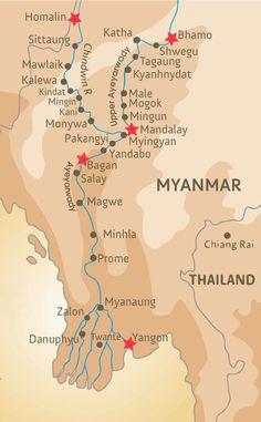 Anawrahta - Itinerary Map