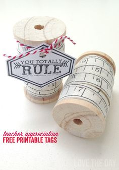 Teacher Appreciation Printables:: Free Tags by Love The Day