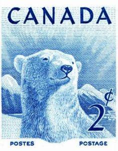 Canada postage stamp - polar bear