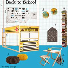 mommo design: MOODBOARD: Back to school