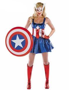 Women's Captain America Avengers Halloween Costume