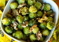 Roasted Brussels Sprouts With Walnuts #Vegan #Thanksgiving