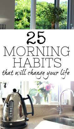 These morning habits are fantastic ideas to add to your daily routine every day as soon as you wake up. Each one is a healthy and good thing to do and it may just change your life in the process - after all, if you start the day right, you'll be able to c Good Habits, Healthy Habits, Healthy Life, Healthy Food, Evening Routine, Night Routine, Health And Wellness, Health Fitness, Morning Habits