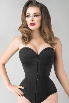 Instant Shape Black Satin Longline Overbust – Corset Story US Motif Corset, Corset Pattern, Pattern Sewing, Corset Overbust, Boned Corsets, Corset Noir, Looks Country, Lace Tights, Waist Training Corset