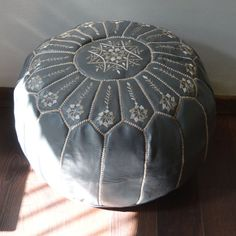 Hey, I found this really awesome Etsy listing at https://www.etsy.com/listing/214846904/gray-20x13-moroccan-pouf-ottoman-round