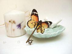 Resin Pendant Transparent Pendant Fairy Key Pendant Butterfly