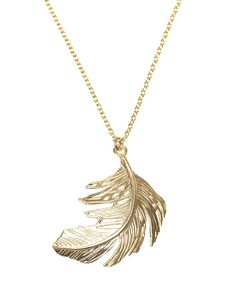 The perfect wedding gift for ladies - Alex Monroe everything. This one is a personal favourite. Feather Necklaces, Leaf Necklace, Gold Necklace, Gold Feathers, Alex Monroe, Gifts For Women, Jewelery, Unique Gifts, Jewelry Accessories