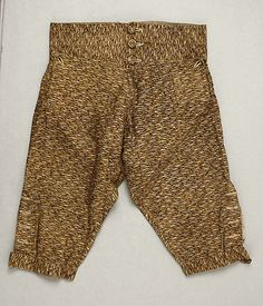 Breeches, Early 19thc., American, Made of cotton