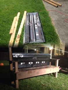 Tailgate bench!