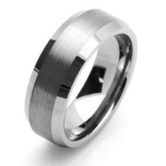 Valentines Day 8MM Comfort Fit Tungsten Carbide Wedding Band Beveled Edges For Men & Women (5 to 15) Cobalt Free Double Accent. $19.99. Prompt Shipping. Tungsten Wedding Band. Cobalt Free. Comfort Fit