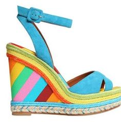 Love these Valentino wedges for spring 2015!