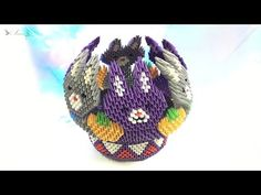 How to make 3d origami Bowl 4 - part 1 - YouTube