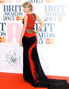 Taylor Swift looked regal at the BRIT Awards 2015 at The O2 Arena on February 25, 2015 in London, England.