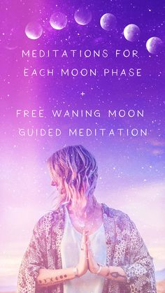 Meditations for Each Moon Phase + Free Waning Moon Guided Meditation - Full Moon Meditation, Free Guided Meditation, Full Moon Ritual, Meditation For Beginners, Meditation Techniques, Mindfulness Meditation, Dark Moon, Moon Moon, Meditation Benefits