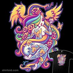 Tattoo pinup illustration by jehsee Fantasy Kunst, Fantasy Art, Dark Fantasy, Gothic Kunst, Princesas Disney Dark, Evvi Art, Pin Up Mermaid, Mermaid Pinup, Goth Art