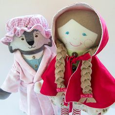 Little Red Riding Hood Big Bad Wolf Cloth Doll by LittleSidekick