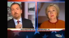 """NBC'S Chuck Todd asks Hillary Clinton about the rights of unborn children on """"Meet The Press,"""" Sunday, April 3, 2016 (Photo: NBC screenshot)"""