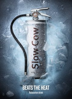 The Slow Cow soft drink Poster Ads, Advertising Poster, Ad Design, Graphic Design, English Posters, Creative Posters, Advertising Photography, Creative Advertising, Photoshop Design