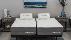 There are so many benefits to buying a split King bed. Read our guide to learn about why one should consider a split King vs a traditional King. King Size Bedroom Sets, King Size Bed Frame, Comfort Mattress, Bed Mattress, Bedroom Set Designs, Adjustable Bed Frame, Bedroom Furniture Stores, King Headboard, Bed Sizes