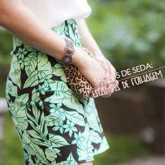 Shorts com estampa de folhagem pra arrasar no verão! - Moda it. Fashion, modait, style.
