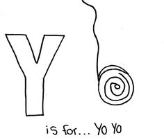 hello there everyone our latest update coloring sheet which your kids can have fun with is letter y is for yo yo coloring page published in letter y - Coloring Page Yoyo