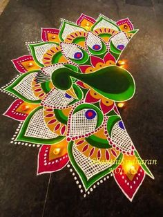 1000+ images about rangoli on Pinterest | Rangoli Designs, Diwali and ... Peacock Pattern Outline