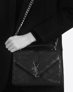 YSL bags for sale at DFO Handbags feature the highest possible quality in every popular Saint Laurent style, at a fraction of normal YSL handbag prices. Ysl College, College Bags, Ysl Handbags, Yves Saint Laurent, Quilt Stitching, Quilting, Ysl Bag, Diamond Quilt, Best Brand