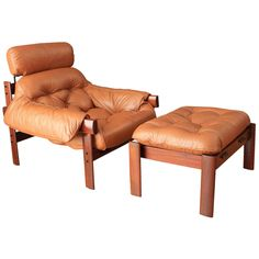 Vintage Mid-Century Lounge Chair and Ottoman by Percival Lafer