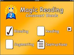 Magic Reading: Consonant Blends App by Preschool University (Free) Blending, Reading, and Segmenting words with consonant blends