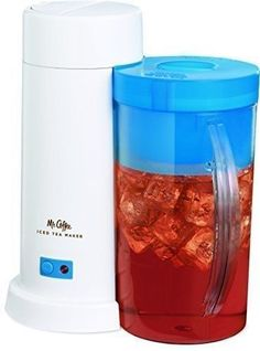 Mr. Coffee 2-Quart Iced Tea Maker for Loose or Bagged Tea, Blue *Fast Shipping #MrCoffee