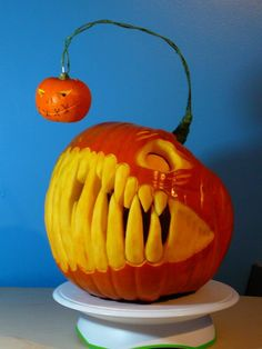 Really An Angler Fish Pumpkin? Oh how my wheels are turning after seeing this...