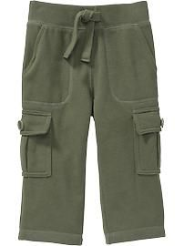 Fleece Cargo Pants for Baby; old navy