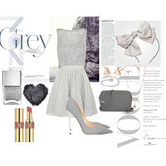 Grey by fantasticbabe on Polyvore featuring polyvore, fashion, style, Alice + Olivia, Jimmy Choo, Michael Kors, Yves Saint Laurent and clothing