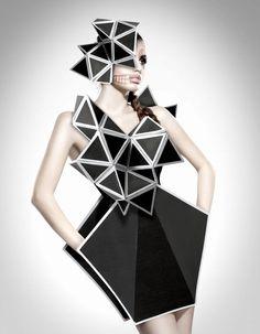low-polygon geometric paper fashion