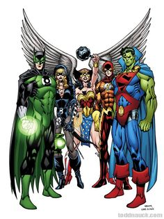 Multiversity Guidebook #1: Earth 32's JLA by Todd Nauck, colours by Gabe Eltaeb