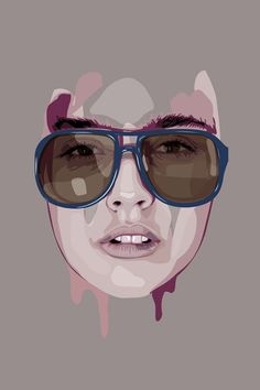I really love that you can see all the layers of the image in this vector illustration. It's pretty cool that you can distinctly see the different colors that go into the face, and it's interesting the way they kind of look unfinished as you get closer to the top and bottom.