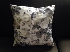 Little grey floral cushion