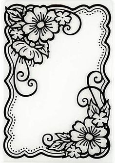 Hot Off The Press - Flower Corners Embossing Folder