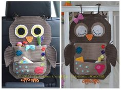 (4) Name: 'Crocheting : Owl Treasure Organiser