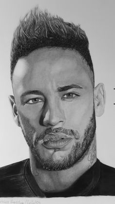 Drawing Tutorials For Beginners, Charcoal Portraits, Neymar Jr, Cool Drawings, Videos, Pencil, Sketches, Poses, Actors