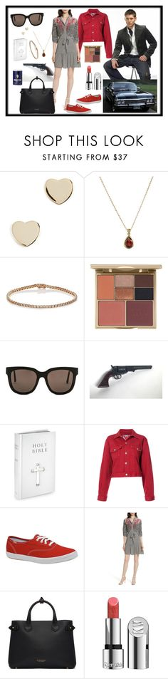 """Aya's Valentine"" by lora-86 ❤ liked on Polyvore featuring Shashi, EWA, Eva Fehren, Stila, Gentle Monster, Adaptation, Keds, Saloni, Burberry and Kjaer Weis"