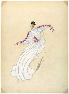 Erté, Costume Sketch, 'Première Poupée', circa 1949.