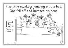 [Preschool Fun] Five Little Monkey Jumping On The Bed
