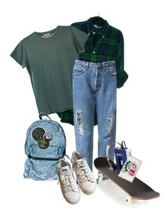 """""""skate"""" by duderanch on Polyvore featuring Levi's, AMI, Sony, Urban Outfitters, adidas and vintage"""